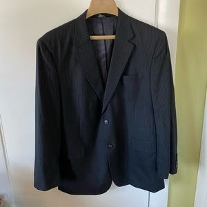 Navy blue pinstripe Jos. A. Bank wool suit jacket